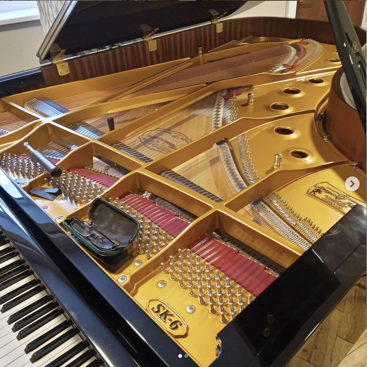 Repairing a grande piano