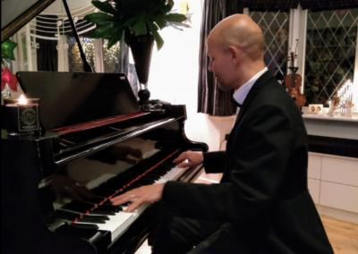 Wedding reception pianist